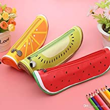 Kieana Fruits Style Pencil Pen Case Pouch For Kids Birthday Return Gifts In Bulk Pack Of
