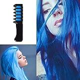 temporaire Cheveux Craie Couleur Peigne la Coloration rapide Peignes jetables les poils Teinture Peigne pour cosplay DIY Party, avec le kit d'outils de teinture