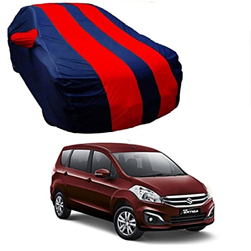 MotRoX Car Body Cover For Maruti Suzuki Ertiga with Side Mirror Pocket (Red & Blue)  available at amazon for Rs.839