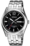 Casio Men's Quartz Watch with Silver Dial Analogue - Digital Display and Silver Metal Strap MTP1335PD-1AVEF