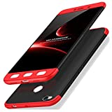 Kapa Double Dip Full 360 Protection Back Case Cover Compatible For Xiaomi Redmi 4 (Black and Red)