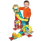 Smoby Toys, 120411, Vroom Planet Megajump, 2 Rampes Géantes + Lanceur et 2 Vehicules Inclus