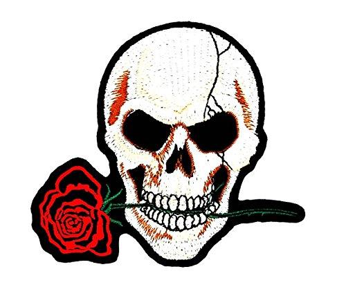 sterben nie Playboy Skull Ghost Skelett Valentine 's Day Motorrad Patch für Heimwerker-Applikation Eisen auf Patch T Shirt Patch Sew Iron on gesticktes Badge Schild Kostüm (Skelett Valentines)