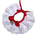Weiße Spitze Hundehalsband, Süße Kleine Hunde Und Katzen Kleidung Zubehör, Prinzen Katze Partei Hochzeit Zubehör