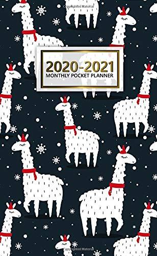 2020-2021 Monthly Pocket Planner: Cute Alpaca & Lama Two-Year Monthly Pocket Planner with Phone Book, Password Log and Notebook. Cute Llama 2 Year (24 Months) Agenda, Diary, Calendar and Organizer. (Pocket-kalender Beste)