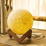 LED-Nachtlicht 5.12 Zoll Mond-Lampe, mit Dock, warme und kühle 3 Farben dimmbare Helligkeits-Anpassung, beste Hauptdekorative und romantisches Geschenk (nicht 3D Druck) (5.12inch)