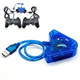 #9: Dual Ps2 Playstation 2 Game Controller Joystick to USB Converter for Pc Laptop
