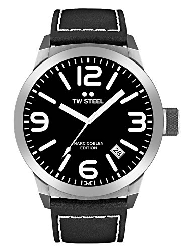 TW Steel Marc Coblen Edition avec bande en cuir 42mm Black/Black twmc1