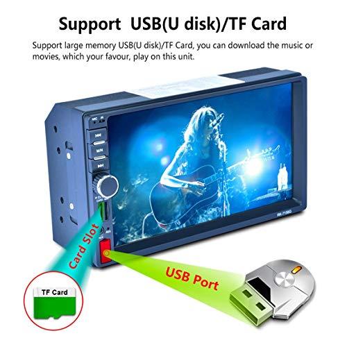 RK-7156G 7 pouces Voiture MP5 Lecteur Bluetooth Voiture Radio Écran Tactile Navigation GPS (Couleur: bleu)