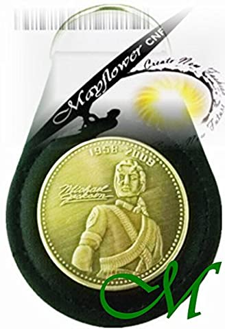 Mayflower CNF Coin &Leather Holder - Michael Jackson, King of Pop ForeverWe Listen to your song When we miss you - Michael, You are NOT alongMemo Limited