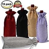 Jute Wein Taschen 100Flasche Taschen mit Kordelzug Geschenk Verpackung 15,2x 34cm wiederverwendbar Flasche Wrap kleider Beutel verschiedenen Farben von Meiso