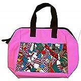 USA 6 Pocket Bingo Fun And Games Bingo Canvas Zipper Tote Bag
