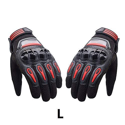 Touch-Screen-Reithandschuhe - Motorrad Anti-Rutsch-Außenvollfinger Motor Reithandschuhe wasserdichte Bike-Handschuhe für Männer/Frauen Sensitive atmungsaktiv, L (Polyester Mesh-bildschirm)