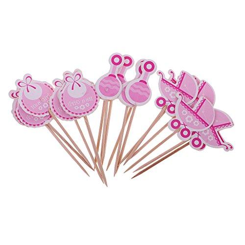 pper Geburtstag Cupcake Dekorationen Baby Taufen Party Kuchen Aufsatz Cupcake Deko Set Baby Muster 18 Pack - Es ist ein Mädchen (18 Geburtstag Cupcake Dekorationen)