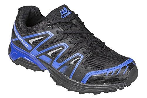 GIBRA homme très légère et confortable, noir/bleu taille 41–46 pied Noir - Noir/bleu