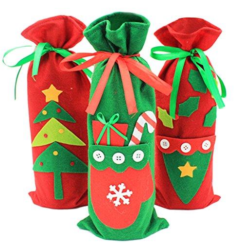 3pcs / Set Weihnachts Anzug Kostüm Weinflasche (Flaschen Kostüm Wein)