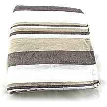 Cubre camas y sofás de la India (Gris-beige)