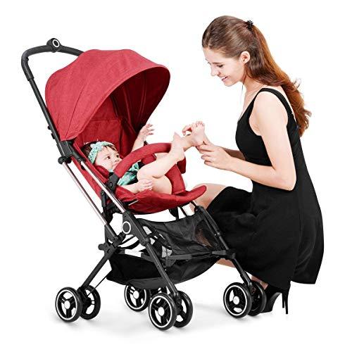 Imagen para Cochecito para bebés recién nacido dos en uno y niño plegable Convertible Kids Doll Carriage Goma Cuatro ruedas Luxury High View Anti-Shock Pram PNYGJBYEC (Color : Blue)