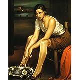 """Impresión artística / Póster: Julio Romero de Torres """"La chiquita piconera. Museo de Julio Rom"""" - Impresión de alta calidad, foto, póster artístico, 40x50 cm"""