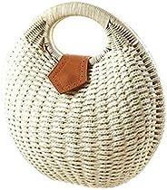 Snail's Nest Tote handbag beach bag women straw bag rattan bag, size 28 x 30 x 1