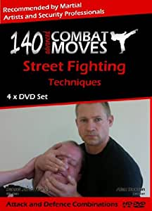 140 Advanced Combat Moves, 4 x DVD Self Defence Home Study Course by John Hurley