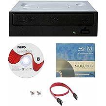 Pioneer BDR-209DBK 16X Blu-Ray CD DVD Unidad interna de reproducción 3D con 3PK GRATIS Mdisc BD + Software + Cable SATA + IDE al adaptador de alimentación SATA