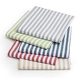 FILU Servietten 8er Pack Blau/Weiß gestreift (Farbe und Design wählbar) 45 x 45 cm - Stoffserviette aus 100% Baumwolle im skandinavischen Landhausstil - 2