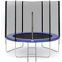 ULTRAPOWER SPORTS Filet de sécurité de remplacement adapté au trampoline Ø305cm 6barres-PE matériel,maille de haute densité - filet seulement, Sans trampoline ni armature ni coussin inclut