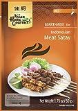 ASIAN HOME GOURMET 3er Pack Marinade für indonesisches Fleisch Satay / Saté MILD [3x 50g]