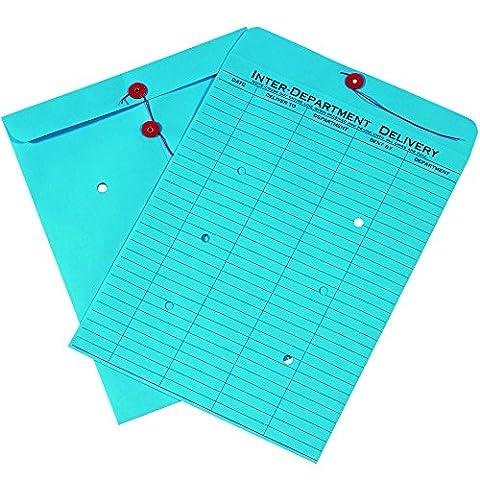 Box ben1097inter-department Briefumschläge, 25,4x 33cm blau (100Stück)