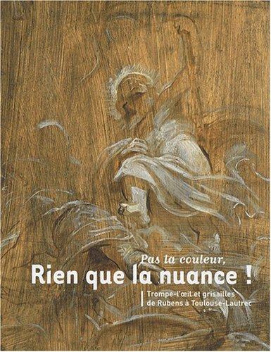Pas la couleur, rien que la nuance ! : Trompe-l'oeil et grisailles de Rubens à Toulouse-Lautrec par Axel Hémery