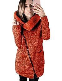 Abrigos De Mujer Invierno, K-youth® Abrigo Con Capucha Cremallera Acolchado Chaqueta Largo con Capucha de manga larga para mujer