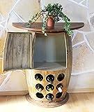 Tavolo a parete Tavolo Botte vini Nr. 1500 Armadio Scaffale vini Botte in legno alt-85cm Scaffale Bar