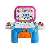 Lernen Set Magnettafel mit Tisch Spielzeug zum Zeichnen und Lernen für Kinder ab 3 Jahren - 5
