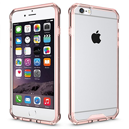 iPhone 6 Plus/6S Plus 5.5 Hülle, Voguecase Transparent Schutzhülle / Case / Cover / Hülle / 2 in 1 TPU+ PC Gel Skin für Apple iPhone 6 Plus/6S Plus 5.5(transparent) + Gratis Universal Eingabestift rosa