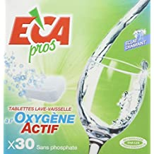 Noveca ECA Pros, Tabletas para lavar platos con Oxígeno activo, 30 unidades x 20g