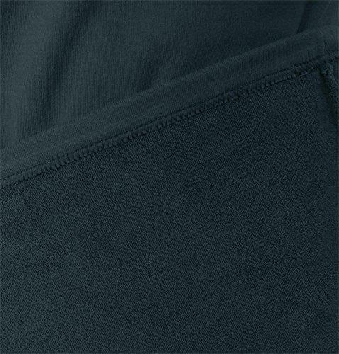Winter Plüschunterwäsche mit Reißverschluss und Kragen Schwarz