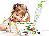 Malerei Handwerk für Kinder, 12Farbigen Stifte mit elektrischer Air Marker Spritze Airbrush Magic Stifte Maker, Art-Sets für Mädchen, Kinder Handwerk Alter 3–10, Weihnachtsgeschenk für Kinder Zeichnen Malen Toys