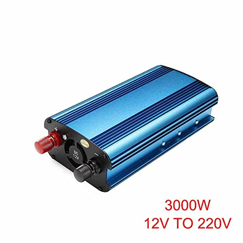 Majome 3000W Auto Solar Wechselrichter DC 12V zu AC 220V Geändert Sinus Converter Solar-auto Kits