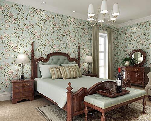 Preisvergleich Produktbild Yirenfeng Ländliche Vliesstoff Tapete Muster Streifen Tapete Schlafzimmer Nacht Wohnzimmer Tapete