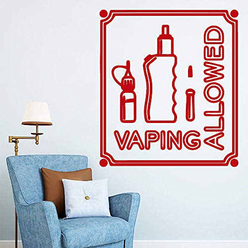jiuyaomai Vaping Amovible Art Vinyle Stickers Muraux Amovible Wall-Sticker Décoration de La Maison Papier Peint Adesivo De Parede 2 42cm X 47cm