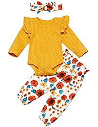 Baby Girl Little Miss Sassy Pants Set Infant Top +Pants Baby Summer Floral Print Bodysuit Romper Set