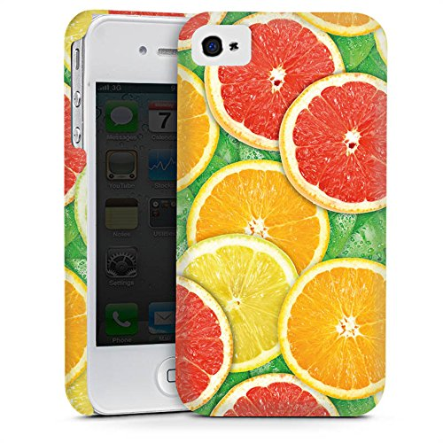 Apple iPhone 5 Housse Étui Silicone Coque Protection Citron Orange Cas Premium mat