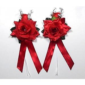 Autoschmuck Antennenschleifen Autoschleifen Hochzeit, Rot (3,95€ Stk)