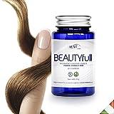 Rush Pharma Biotina - Integratore contro la caduta dei capelli, efficace per la crescita di capelli e unghie, 1mese di trattamento, con MSM, rame, vitamina C, vitamine e minerali