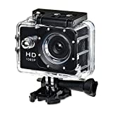 ONEU 1080P Action Sport Cam 2' LCD 120° Objektiv Wasserdichte HD DV Kamera Helmkamera für Mountain Paintball Motorrad Skating Schwarz