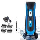 Wasserdichte Haarschneidemaschine für Kinder - geräuscharmes Elektro-Haarschneider für Erwachsene - mit Ladestation und 4-fachem Kamm