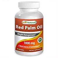 Red Palm Oil 1000mg 90 Softgels by Best Naturals - Rich in natural carotenoids (vitamin A), is a good source of tocopherols (natural vitamin E) and contains tocotrienols by Best Naturals