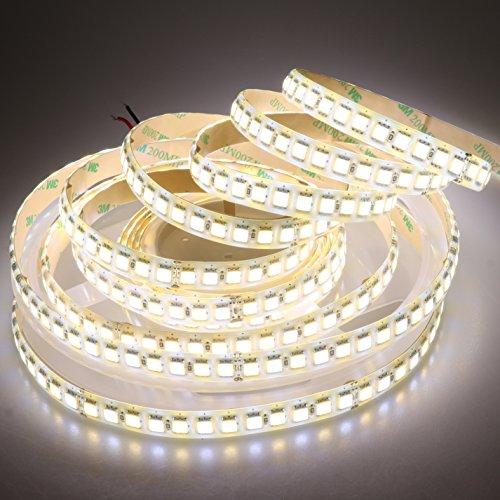 LTRGBW Super Bright 2800K-7000K DC 24V 600 LEDs 5M Bi-Color Dual Weiß Flexible 5050 LED Strip Warm Kalt Combo Farbtemperatur Einstellbare Band Lampe Silikon IP65