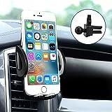 Lüftungsschlitz Handyhalterung Auto Kratzschutz 360°Drehbarem für Galaxy S8/ S7/S7edge/S6/S6 Edge /S5/ iphone 5S / iphone 6 / 6Plus/7/7plus Schwarz